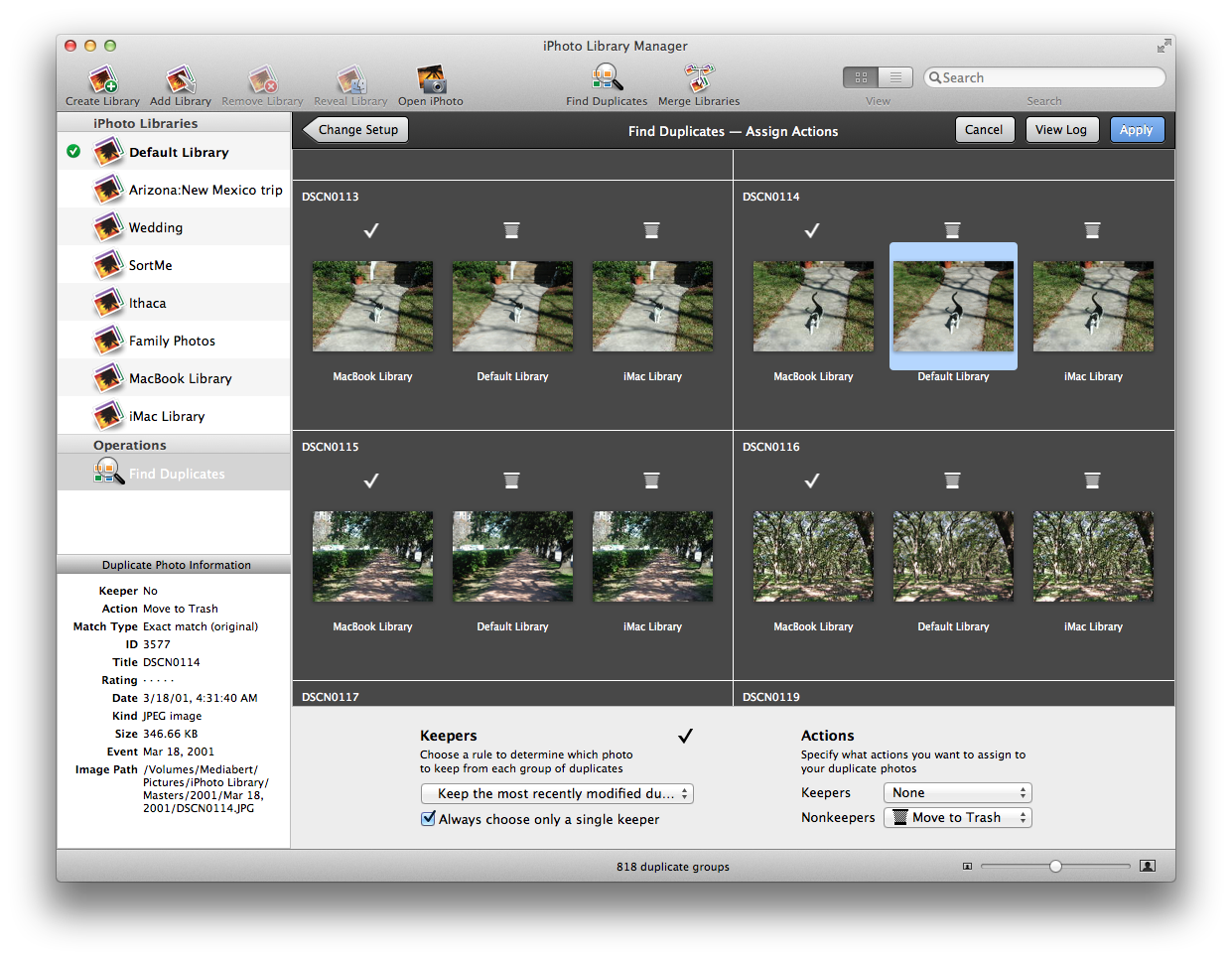 iPhoto Library Manager Help