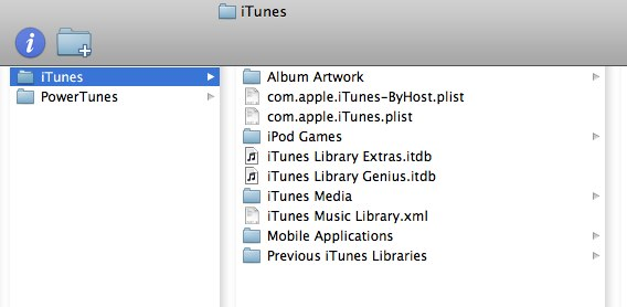 how to create music folder from itunes